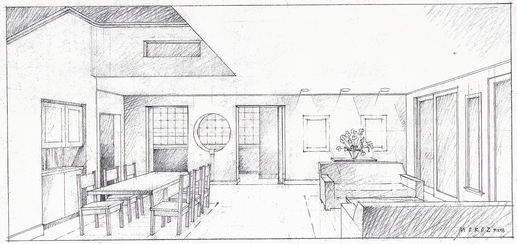 Sketch Of The Inside Of A House